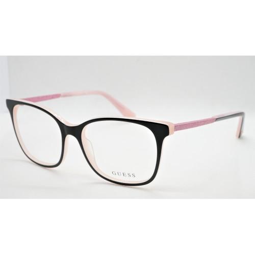GUESS Oprawa okularowa damska GU2835 001 - czarny, różowy