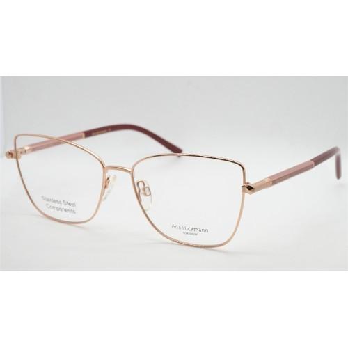 Ana Hickmann Oprawa okularowa damska AH1381 05B- złoty