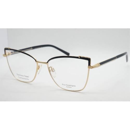 Ana Hickmann Oprawa okularowa damska AH1392 06A - złoty, czarny