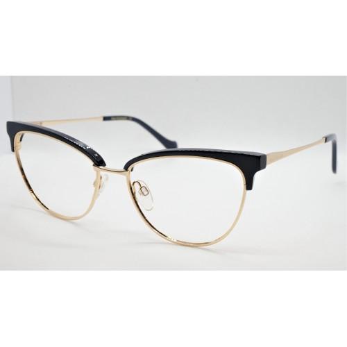 Ana Hickmann Oprawa okularowa damska AH1379 D01 - złoty, czarny
