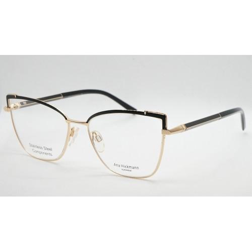 Ana Hickmann Oprawa okularowa damska AH1392 09A - złoty, czarny