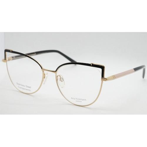 Ana Hickmann Oprawa okularowa damska AH1393 09A - złoty, czarny