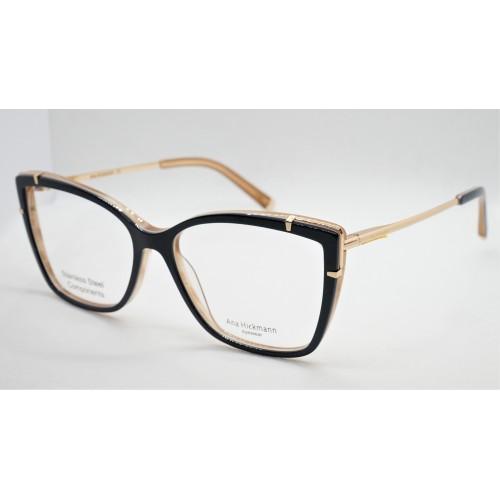Ana Hickmann Oprawa okularowa damska AH6381 H01 - granatowy, złoty
