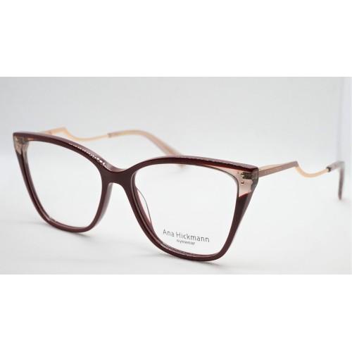 Ana Hickmann Oprawa okularowa damska AH6402 P02 - bordowy