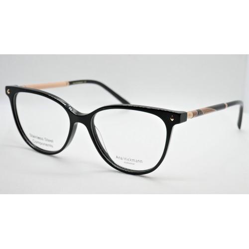 Ana Hickmann Oprawa okularowa damska AH6404 A01 - czarny