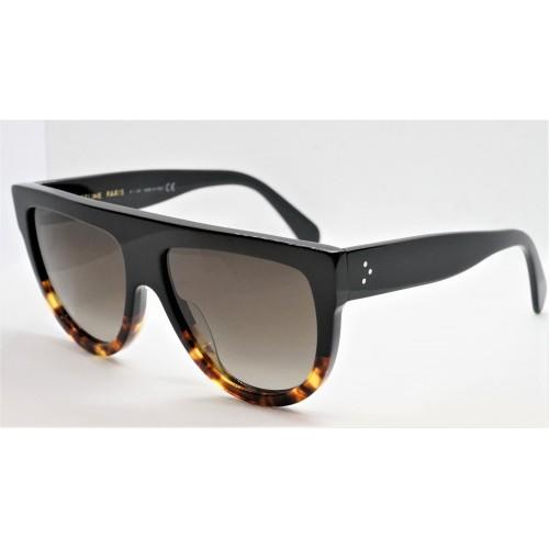Celine Okulary przeciwsłoneczne damskie CL4001IN 05F - czarny, szylkret, filtr UV 400