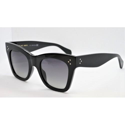 Celine Okulary przeciwsłoneczne damskie CL4004IN 01D - czarny, polaryzacja, filtr UV 400