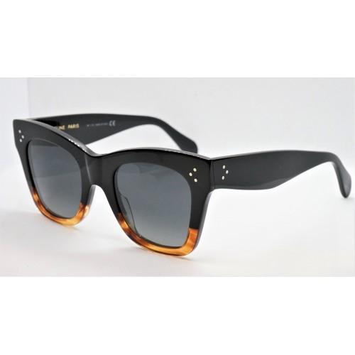 Celine Okulary przeciwsłoneczne damskie CL4004IN 02D - czarny, szylkret, polaryzacja, filtr UV 400