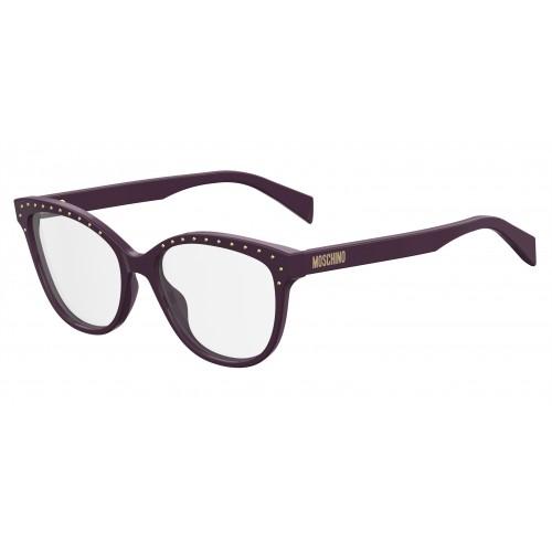 MOSCHINO Oprawa okularowa damska MOS506 B3V - fioletowy