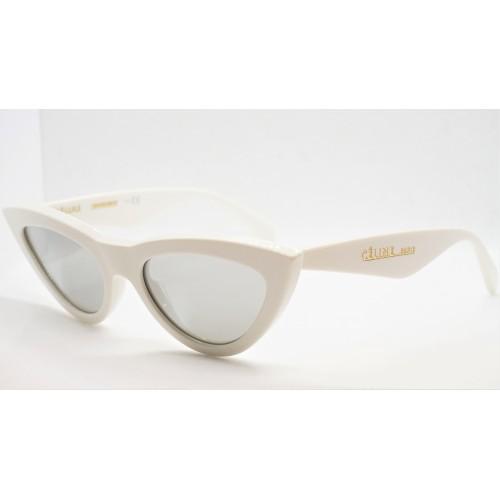 Celine Okulary przeciwsłoneczne damskie CL40019I 21C - biały, filtr UV 400