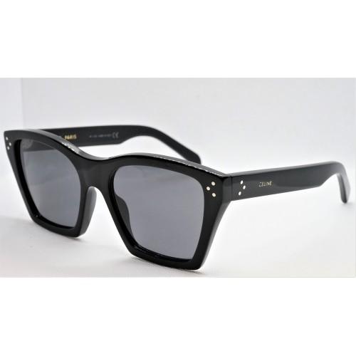 Celine Okulary przeciwsłoneczne damskie CL40090I 01A - czarny, polaryzacja, filtr UV 400