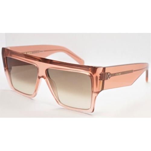 Celine Okulary przeciwsłoneczne damskie CL40092I 74F - różowy, transparentny, filtr UV 400