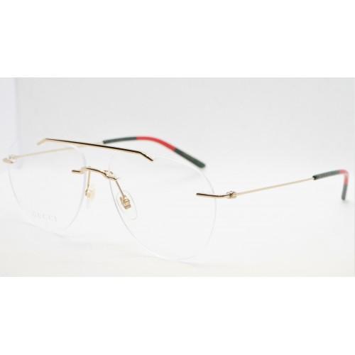 Gucci Oprawa okularowa męska GG0398O 002 - złoty