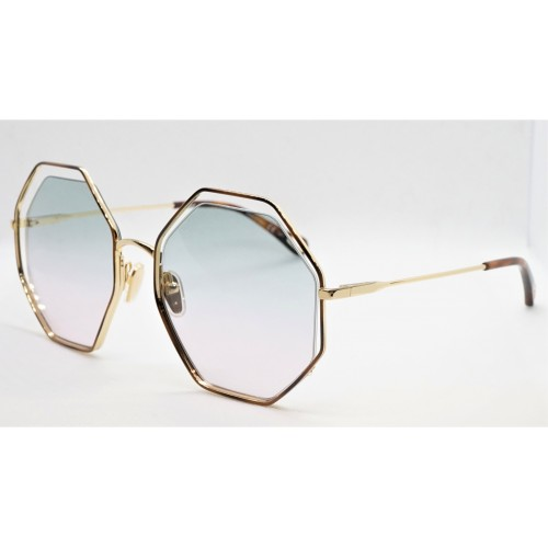Chloe Okulary przeciwsłoneczne damskie CH0046S 002 - złoty, brązowy, zielony, filtr UV 400