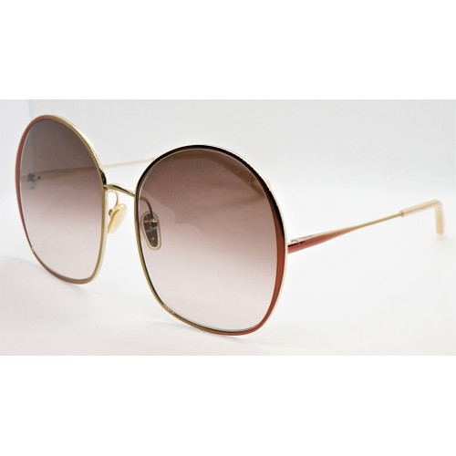 Chloe Okulary przeciwsłoneczne damskie CH0014S 003 - złoty, brązowy, filtr UV 400