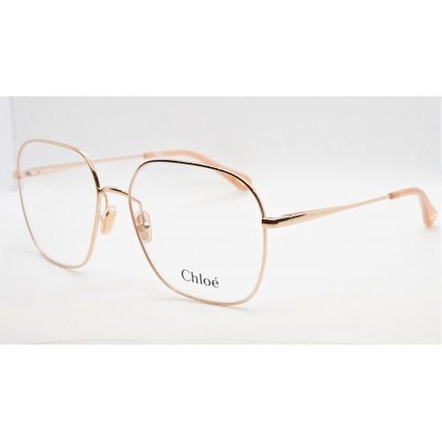 Chloe Oprawa okularowa damska CH0023O 002 - złoty, różowy