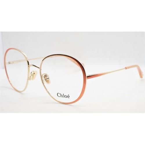 Chloe Oprawa okularowa damska CH0018O 002 - złoty, brzoskwiniowy
