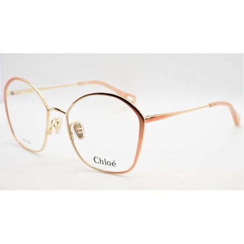 Chloe Oprawa okularowa damska CH0017O 006 - złoty, brzoskwiniowy
