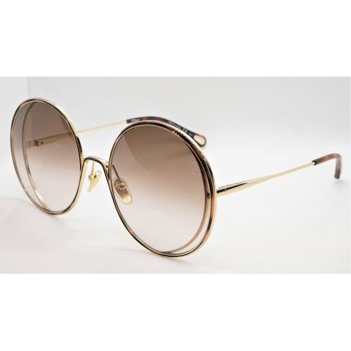 Chloe Okulary przeciwsłoneczne damskie CH0037S 001 - złoty, szylkretowy, filtr UV 400