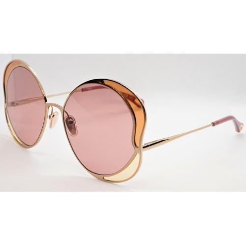 Chloe Okulary przeciwsłoneczne damskie CH0024S 004 - złoty, różowy, filtr UV 400