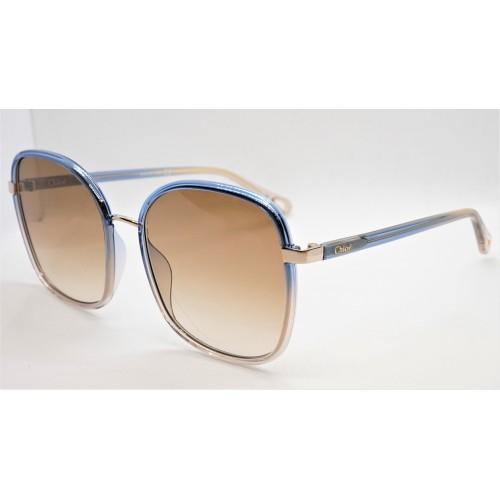 Chloe Okulary przeciwsłoneczne damskie CH0031S 003 - beżowy, niebieskifiltr UV 400