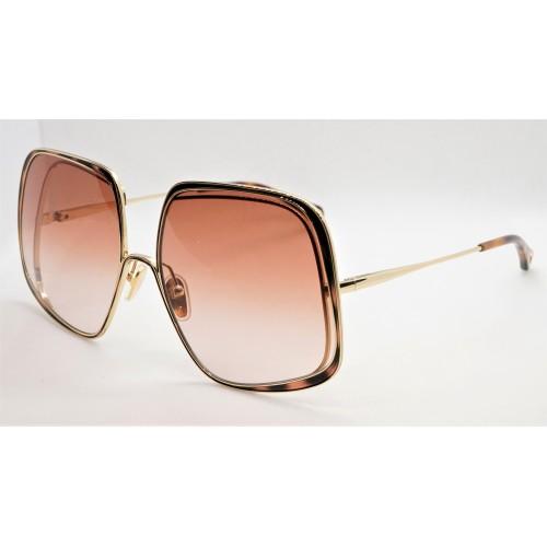 Chloe Okulary przeciwsłoneczne damskie CH0035S 003 - złoty, brzoskwiniowy, filtr UV 400