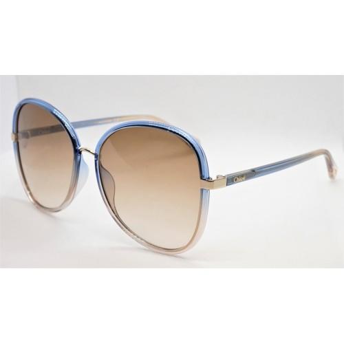 Chloe Okulary przeciwsłoneczne damskie CH0030S 002 - beżowy, niebieski,  filtr UV 400