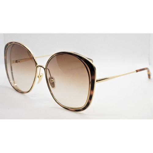 Chloe Okulary przeciwsłoneczne damskie CH0036S 002 - złoty, szylkretowy, filtr UV 400