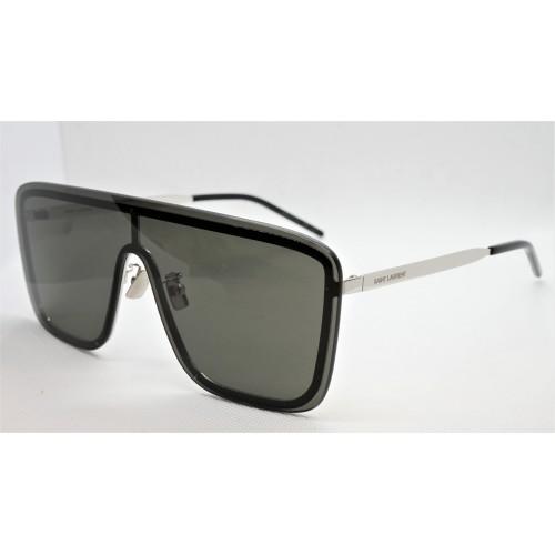 Yves Saint Laurent Okulary przeciwsłoneczne unisex SL 364 MASK 001 - czarny, filtr UV 400