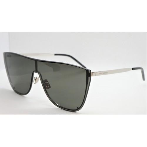 Yves Saint Laurent Okulary przeciwsłoneczne unisex SL 1-B MASK 002 - czarny, filtr UV 400