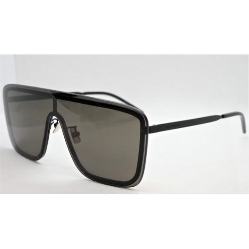 Yves Saint Laurent Okulary przeciwsłoneczne unisex SL 364 MASK 002 - czarny, filtr UV 400