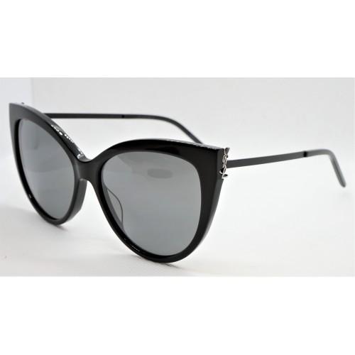 Yves Saint Laurent Okulary przeciwsłoneczne damskie SL M48S_A 003 - czarny, filtr UV 400