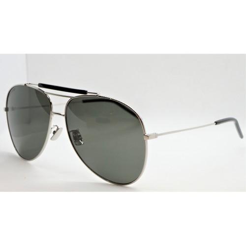 Yves Saint Laurent Okulary przeciwsłoneczne unisex CLASSIC 11 OVER 001 - srebrny, filtr UV 400