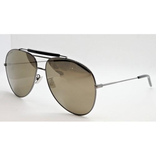 Yves Saint Laurent Okulary przeciwsłoneczne unisex CLASSIC 11 OVER 004 - stalowy, filtr UV 400