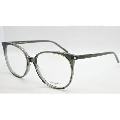Yves Saint Laurent Oprawa okularowa damska SL 39 005 - zielony, szary