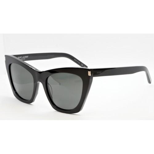 Yves Saint Laurent Okulary przeciwsłoneczne damskie SL 214 KATE 001 - czarny, filtr UV 400