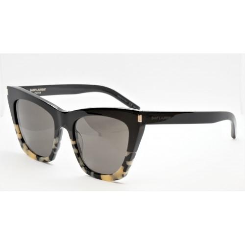 Yves Saint Laurent Okulary przeciwsłoneczne damskie SL 214 KATE 011 - czarny, szylkret, filtr UV 400