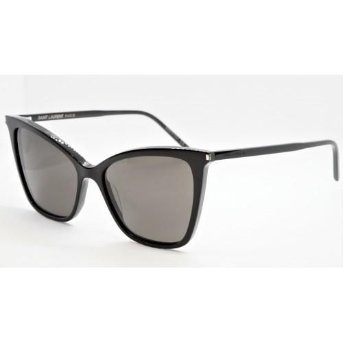 Yves Saint Laurent Okulary przeciwsłoneczne damskie SL 384 - czarny, filtr UV 400