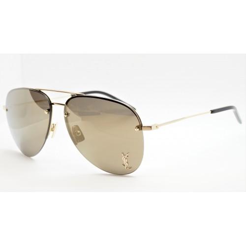 Yves Saint Laurent Okulary przeciwsłoneczne unisex CLASSIC 11 M 004 - złoty, filtr UV 400