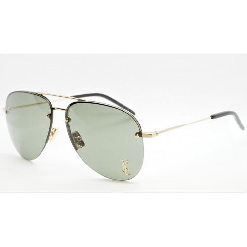 Yves Saint Laurent Okulary przeciwsłoneczne unisex CLASSIC 11 M 003 - złoty, zielony, filtr UV 400