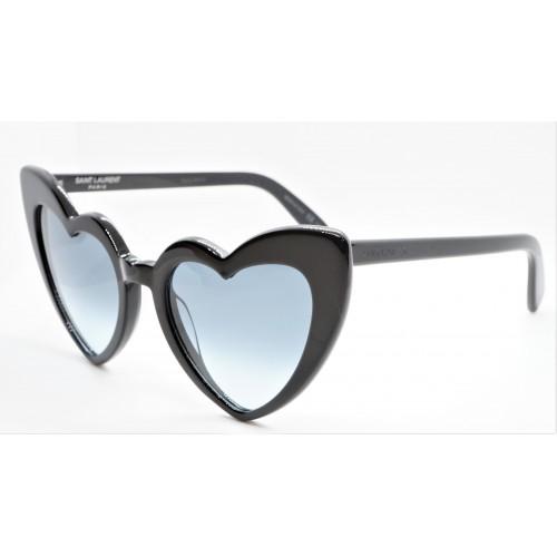 Yves Saint Laurent Okulary przeciwsłoneczne damskie SL 181 LOULOU 008 - czarny, filtr UV 400