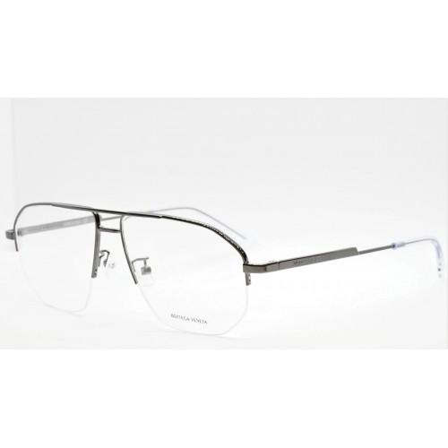 Bottega Veneta Oprawa okularowa męska BV1109O 002- stalowy