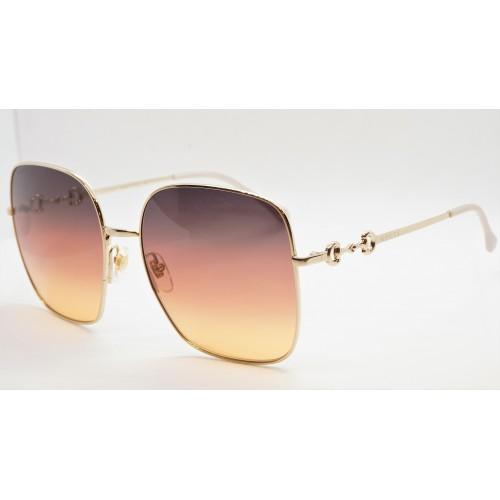Gucci Okulary przeciwsłoneczne damskie GG0879S 004 - złoty, filtr UV400