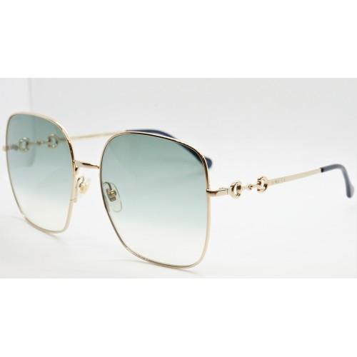 Gucci Okulary przeciwsłoneczne damskie GG0879S 003 - złoty, filtr UV400