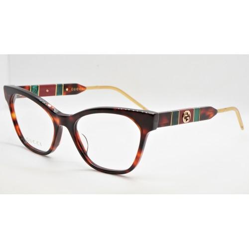 Gucci Oprawa okularowa damska GG0600O 002 - szylkret