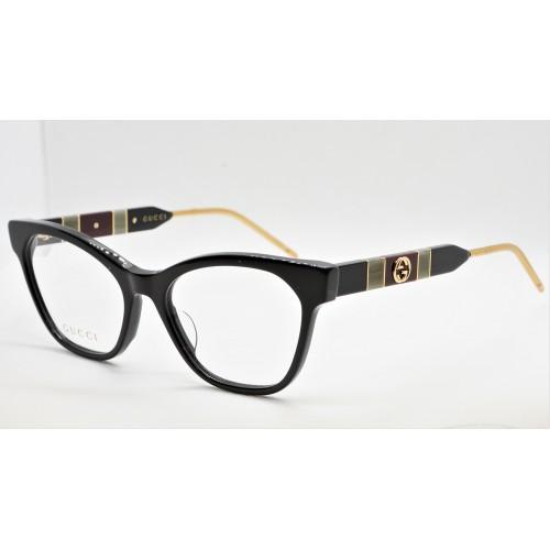 Gucci Oprawa okularowa damska GG0600O 004 - czarny