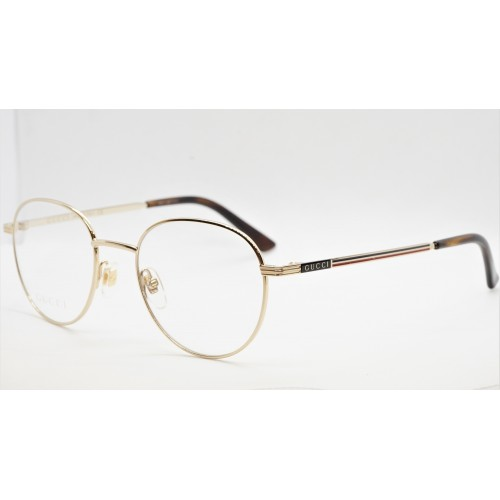 Gucci Oprawa okularowa unisex GG0835O 004 - złoty