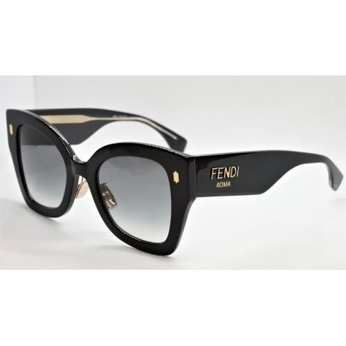 Fendi Okulary przeciwsłoneczne damskie FF0434GS 807 - czarny, filtr UV 400