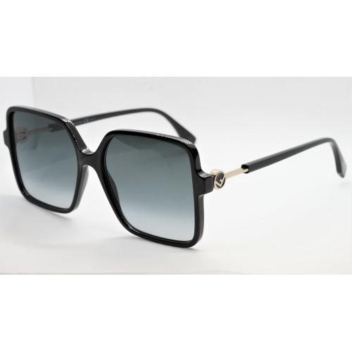 Fendi Okulary przeciwsłoneczne damskie FF0411S 807 - czarny, filtr UV 400