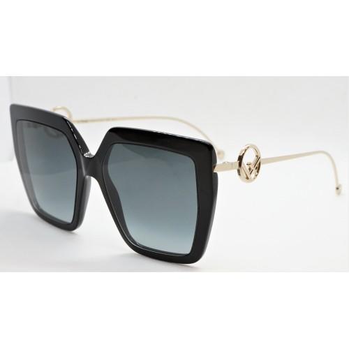 Fendi Okulary przeciwsłoneczne damskie FF0410/S 807 - czarny, filtr UV 400
